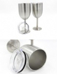 10oz Stainless Steel Wine Glass