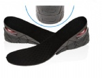 3 Layers Stealth Adjustable Increased Insoles For Men Women Shoes Pad Increase Height Insole Black Air Cushion Lift Pads Heel