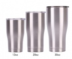 12OZ 20OZ 30OZ stainless steel curve tumblers