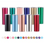 20oz Stainless Steel Skinny Tumbler Straight Cups double wall water bottle Insulated Flask thermos with straw