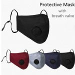 Face Mask Anti-Dust Earloop with Breathing Valve Adjustable Reusable Mouth Masks