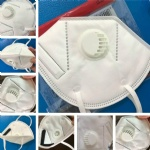 Folding KN95 FFP2 Mask Anti-dust Respirator Face KN95 Mask with Self-priming Filter With Retail Package