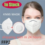 KN95 Valved Reusable With Breathing Valve Air Filter Respirator Mouth Certified Folding 4 Layers