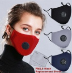 PM2.5  Anti-Dust Mask Air Pollution Foldable Face Dust filters Masks Reusable with Valve 2 Filters